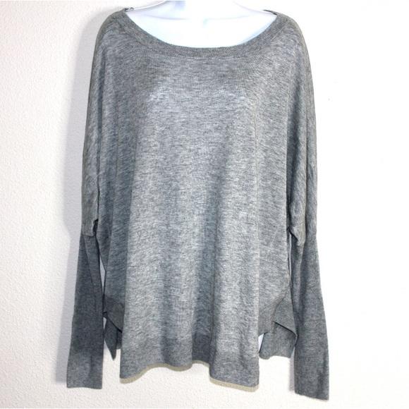 Valette Sweaters - Valette Gray Dolman Knit Sweater